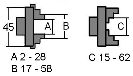 60075 GG-Tools  Vierbackenfutter 50mm passend für Boley 8mm